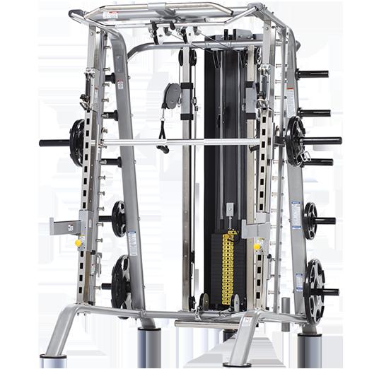 Rebel Fitness Equipment In Omaha Nebraska: TuffStuff CSM-725WS Smith Machine/ Half Cage Ensemble